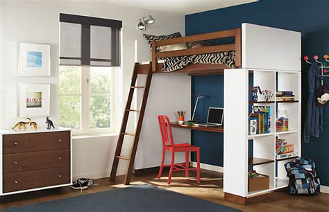 moda loft bed with desk bookcase by r b