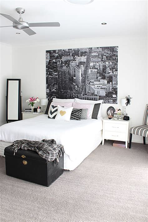 monochrome bedroom real living magazine redagape crochet and design