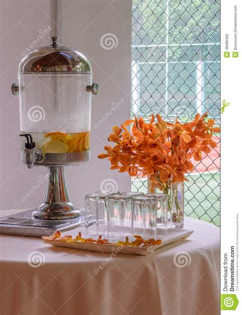 Dispenser Fruit water dispenser with fruit stock photo image 48480400