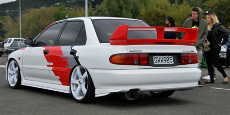 Grill Bumper Mitsubishi Lancer Evo 3 1993 1996 Chrome Paint phoenixss 1996 mitsubishi lancer specs photos