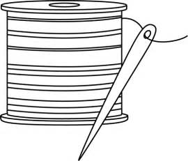 black and white needle and thread clip art black and
