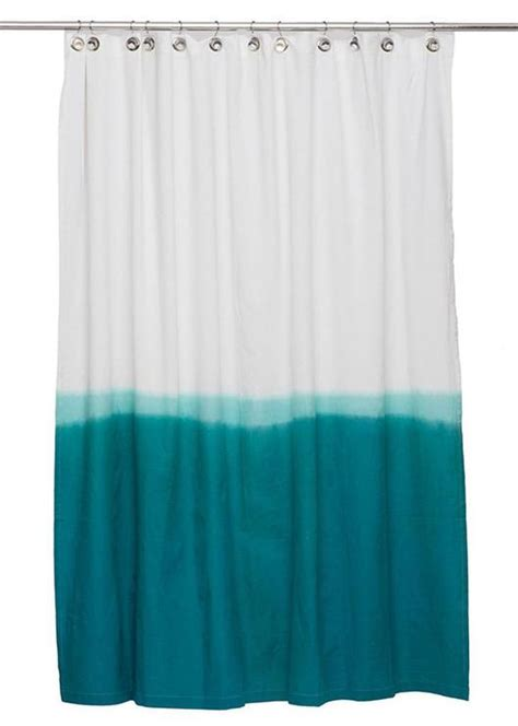Teal Ombre Curtains Teal Dip Dye Shower Curtain By Igh