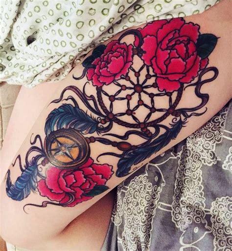 colorful dreamcatcher tattoos 25 tatuaggi con l acchiappasogni per la vostra