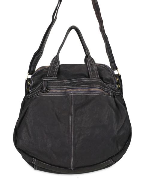 Sissi Rossis Shoulder Bag by Lyst Sissi Washed Bufalo Tote In Black