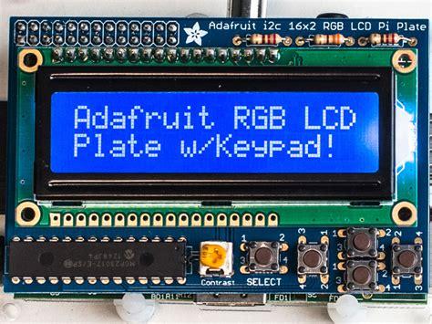 Raspberry Pi Rgb Lcd 1602 Shield adafruit rgb negative 16x2 lcd keypad kit for raspberry pi