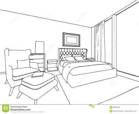 disegno interno casa prospettiva interna disegno di schizzo profilo