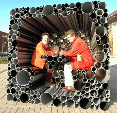 cool things to make with pvc pipe pvc pipes form an interactive pavilion for children to
