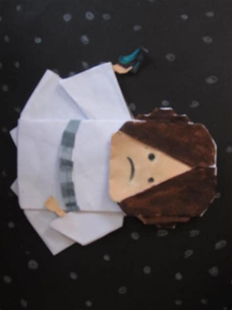 How To Fold Origami Princess Leia - princess leia origami yoda