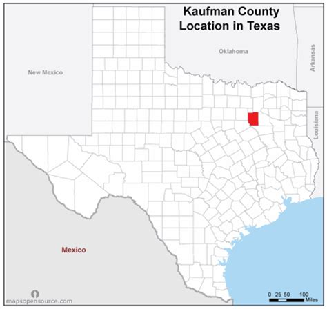 Kaufman County Search Free And Open Source Location Map Of Kaufman County Mapsopensource