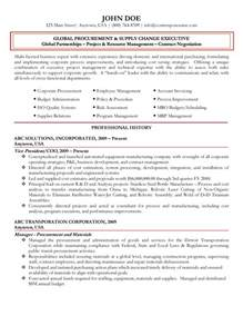 Resume Purchasing by Global Procurement Executive Resume