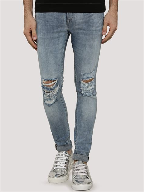 light wash ripped mens buy look light wash ripped for