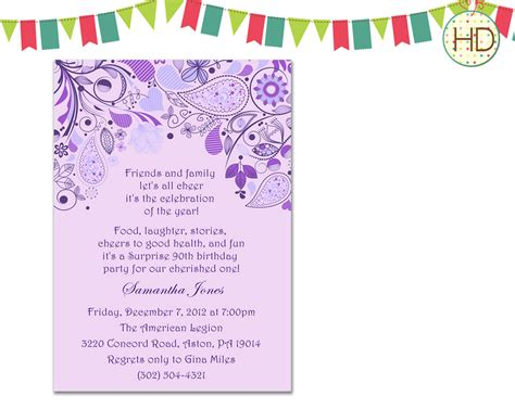 bridal shower invitation birthday by hdinvitations