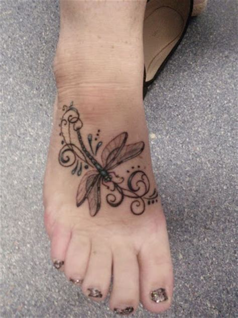 10 beautifully unique foot tattoos beautiful dragonfly foot venice designs