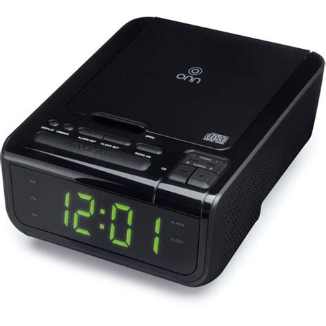 onn audio top loading cd player dual alarm clock digital am fm stereo radio w ebay