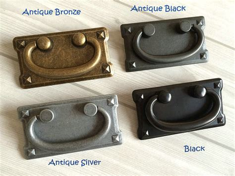 Kitchen Cabinet Pulls With Backplates by 3 Vintage Style Dresser Pulls Drawer Pull Handles