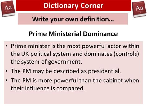 Political Cabinet Definition by Prime Ministerial Dominance