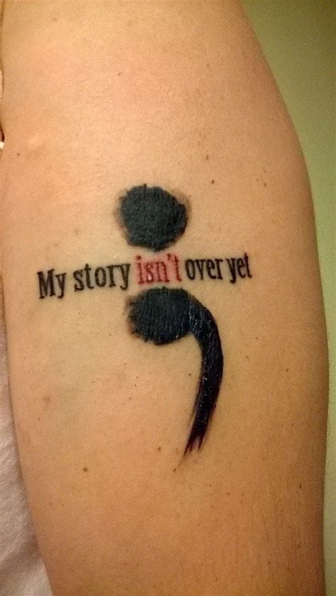 my second tattoo done 12 october 2013 a semi colon is