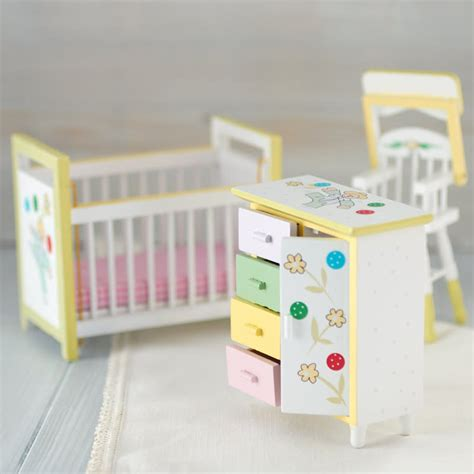 dollhouse nursery dollhouse miniature baby nursery set nursery miniatures