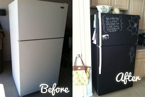 chalkboard painting refrigerator awesome kitchen remodel diy make your own chalkboard