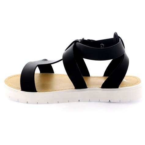bottom sandals womens shoes t cleated sole open toe white flatform