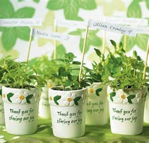 Plant Favors by Friday Fives 5 Plant Wedding Favors