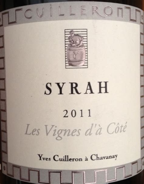 community tasting notes 2011 domaine yves cuilleron
