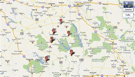 maps of east texas east texas map