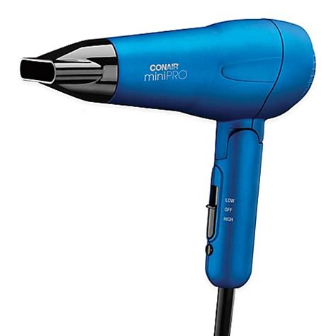 Mini Hair Dryer buy conair 174 mini pro tourmaline ceramic styler hair dryer in blue from bed bath beyond