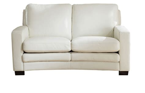 ivory loveseat joanna full top grain ivory white leather loveseat