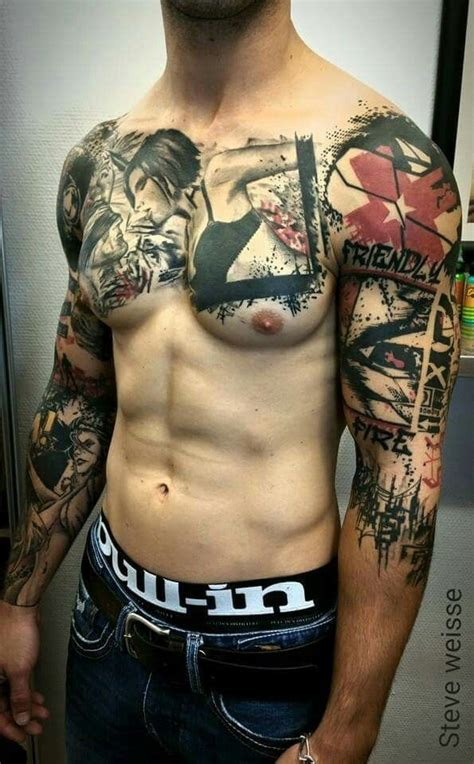 tattoo inspiration chest 552 best images about trash polka tattoo ideas on