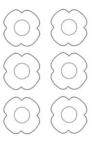 Poppy Printable Template by Anzac Day Poppy Template Top Innovative And
