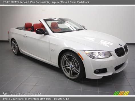 White Bmw With Interior For Sale by Alpine White 2012 Bmw 3 Series 335is Convertible Coral