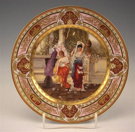Iridescent Vase Plate Royal Vienna Porcelain Manufactory The Spring