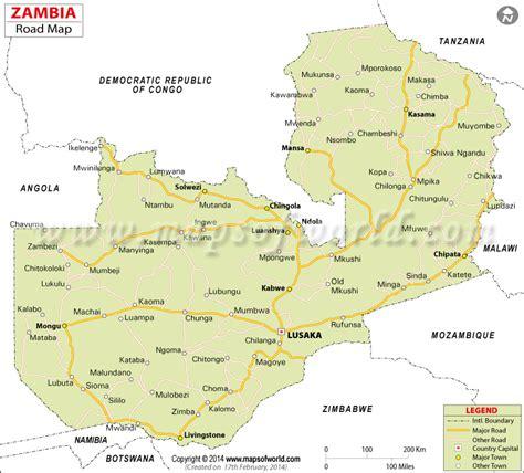 map of lusaka city zambia road map