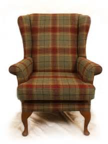 tartan wing back chair furniture