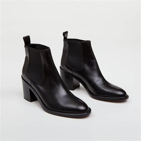 chelsea heeled boots kayne heeled chelsea boot black leather