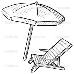 Closed umbrella sketch depositphotos 14136456 beach chair and umbrella