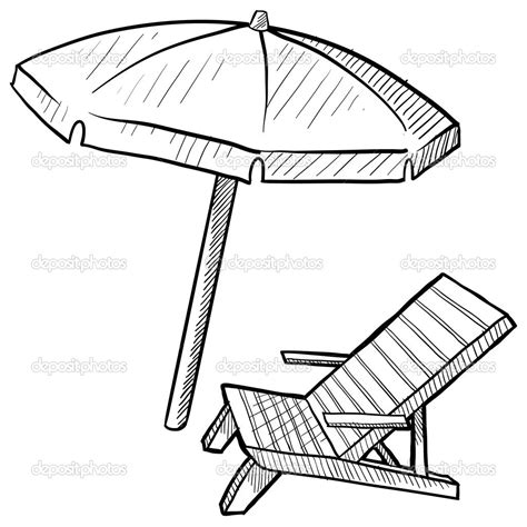 beach umbrella coloring page free large images