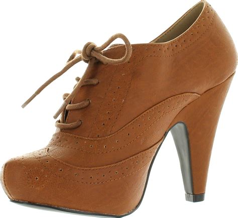 qupid oxford shoes qupid womens nadine 98 lace up oxford pumps shoes