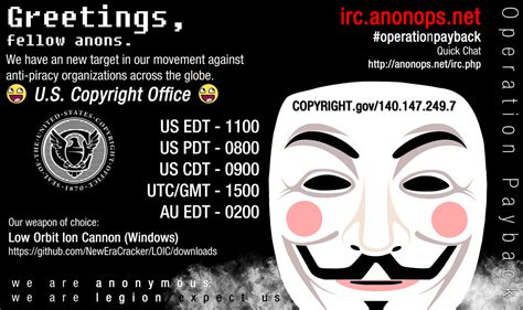 Copyright Office by File Anonymous Attacks The United States Copyright Office