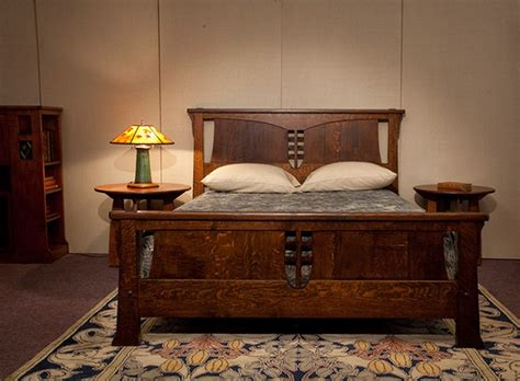 craftsman style bedroom furniture wood magazine arts and crafts bed