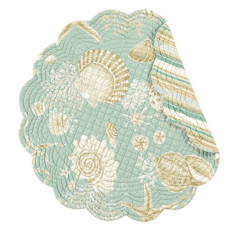 Free House Designs natural shells round placemat