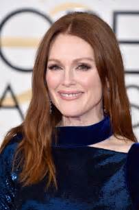 Julianne Moore by Julianne Moore At The 2016 Golden Globes In Midnight Blue
