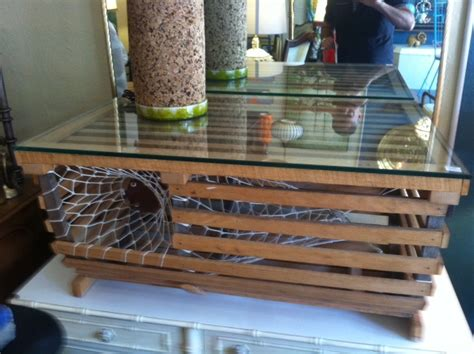 summer smells custom made lobster trap coffee table
