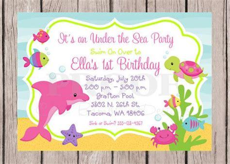 printable   sea invitations  birthday  baby shower mermaid party party