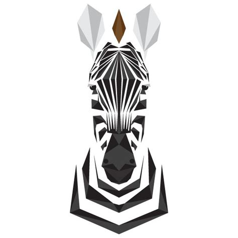 geometric zebra tattoo the animal alphabet in primitive portraits by mat mabe