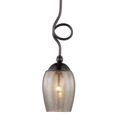 Globe Electric 1 Light Black Mini Pendant With Metal Mesh Mercury Light Pendant