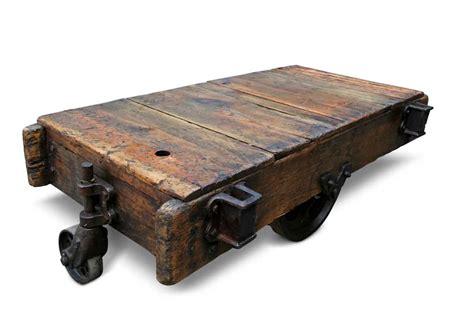 factory cart coffee table vintage factory cart coffee table olde things