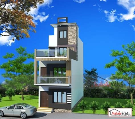 small house elevation  duplex house elevation