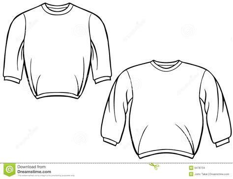 crewneck template sweatshirt set stock images image 9478734